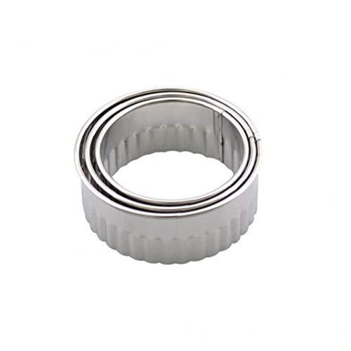 YiniKape 3 × Knödelform, Silber, Edelstahl-Pressmaschine Knödel Kuchen 馄饨 Formform der Küche Machen