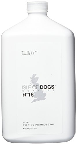 Isle of Dogs coature Nr. 16weiß Fell Nachtkerzenöl Hund Shampoo, 1Liter (Luxus-hundeshampoo)