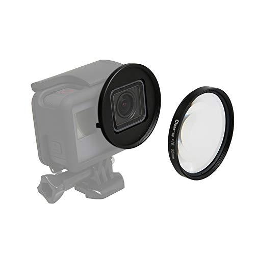 Ansemen 52MM Kreisförmig 10X Lupe Objektiv - Nahansicht Vergrößerung Makro Linse Filter mit Adapter Ringfür GoPro Hero 7/Hero 6/Hero 5 Action Kamera