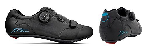"'Breathable artigianali cycling shoes Made in Italy Model ""Marco Pantani Genuine 39 / 46 carbon leather sole, turquoise"