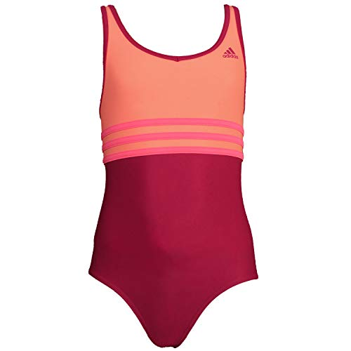 adidas Youth Colorblock One-Piece 3 Stripes Badeanzug S20782 Mädchen Badeanzug Orange 170