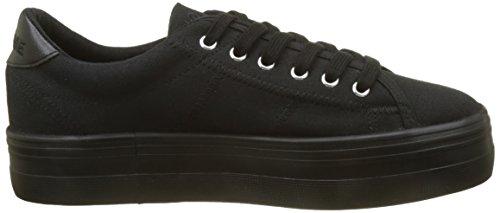 NONAME Plato Sneaker Canvas, Basse Donna Noir (black Fox Black)