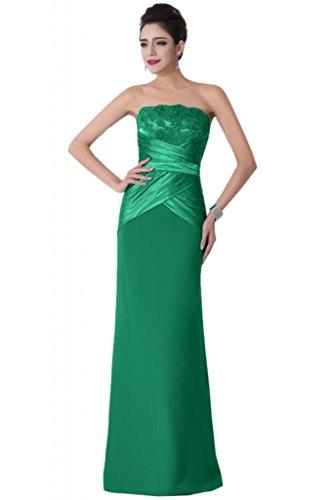 Sunvary classica elasticizzata, colonna senza Wedding Guest vestiti Pageant vestiti Verde scuro