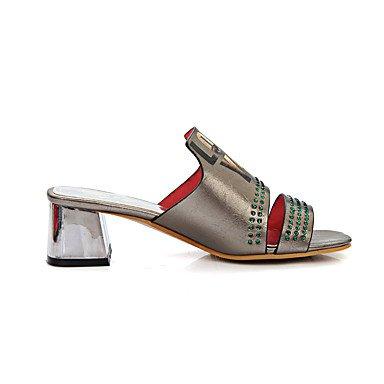 LvYuan Da donna-Sandali-Serata e festa Formale Casual-Altro-Quadrato-Finta pelle-Nero Rosso Argento White