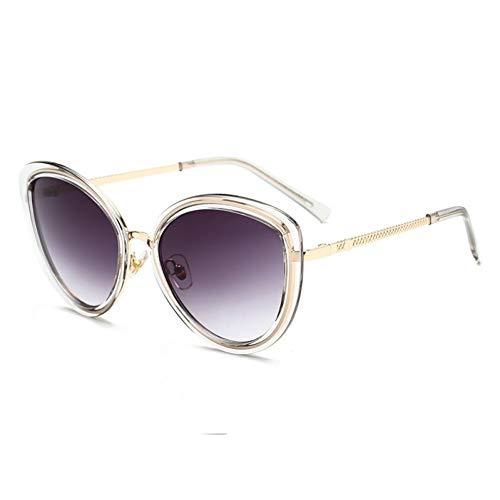 Taiyangcheng Polarisierte Sonnenbrille Retro Cat Eye Sonnenbrille Frauen Damen Marke Leopard Rahmen Gradient Lens Cat Eye Sonnenbrille Für Weibliche Oculos Uv400,C13