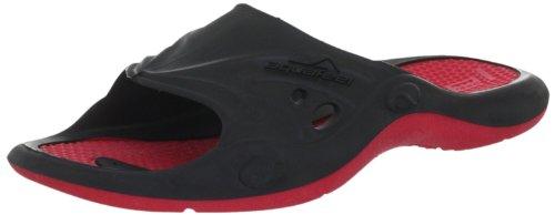 Fashy Aquafeel Profi Pool Shoe 7245 40, Unisex - Erwachsene Bade Sandalen, Schwarz (Schwarz-Rot 40), EU 40/41
