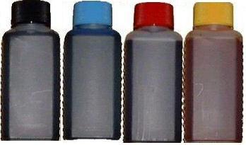 Preisvergleich Produktbild Spar-Set 400 ml Nachfülltinte (100ml schwarz, 100ml cyan, 100ml magenta, 100ml gelb) für Druckerpatronen/Drucker von HP mit 4 Spritzen und 4 Kanülen