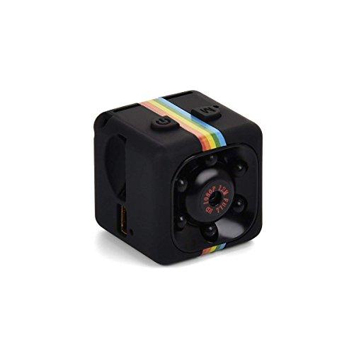 Lovearn Mini Camera SQ11 Camcorder HD 1080P Camcorder Sport Mini-DV-Videorecorder Spion-Kameras mit Nachtsicht und Bewegungserkennung Überwachungskamera (Black) (Hd-wireless-spion-kamera)