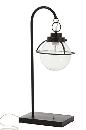 LAMPE BOULE SUSPENDRE METAL/VERRE NOIR (33x24x71cm) JOLIPA JLINE 92295