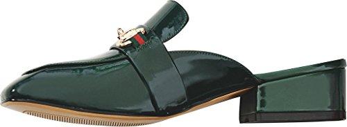 Calaier Femme Catalented 4CM Bloc Glisser Sur Mules et sabots Chaussures Vert