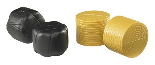 Maßstab Produzieren (Bruder 02345 - Zubehör: 4 Rundballen für Ballenwickler, 2 x schwarz / ockerbraun)