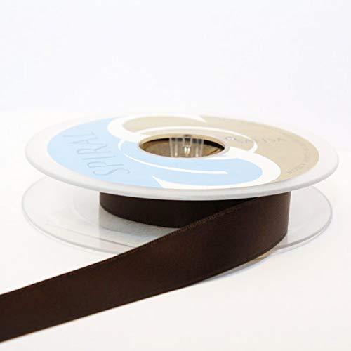 Satin-hutband (Hutband Satin-Band, 15 mm: je 2 x 2 m, braun)