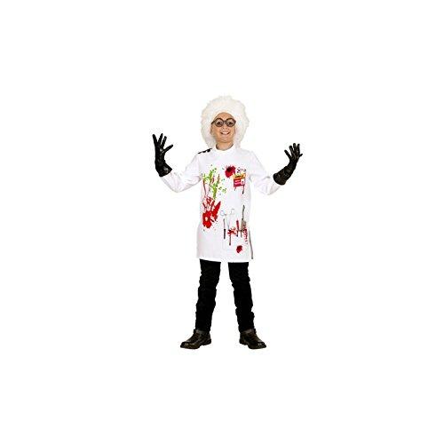 Widmann wdm73057-Kostüm für Kinder Wissenschaftler (140cm/8-10Jahre), mehrfarbig, XS (Kostüm Halloween Wissenschaftler Verrückter)