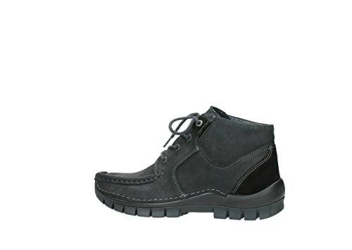 Wolky Comfort Chaussures à lacets Seamy Cross Up 10000 nubuck noir