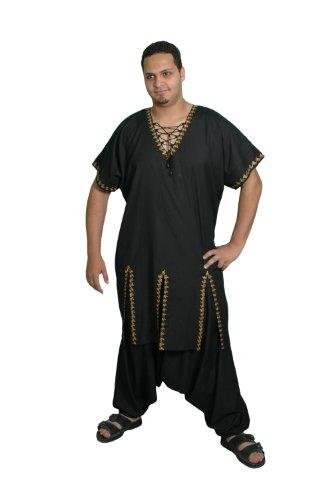 Egypt Bazar Zweiteiliges Salwar-Kameez-Set im Pakistani-Stil, Größe: 2XL, schwarz -