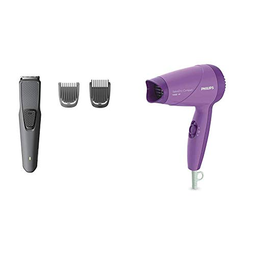 Philips Trimmer (BT1210) & Dryer (HP8100/46) Combo