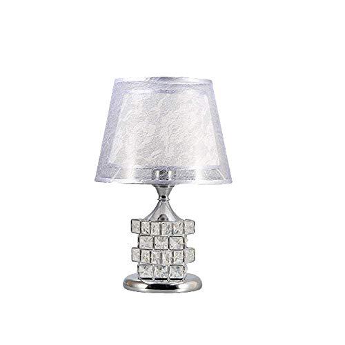 Chandelierdelicate Design Crystal Base Schlafzimmer Wohnzimmer Beistelltischlampe, Crystal Rubik'S Cube Perlen Tischlampe, Silber Schirm Lampenschirm E27 * 1 (Light Crystal Led Base Cube)