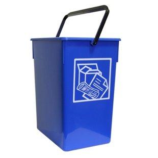 Cubo basura Reciclar 20X28X34 C/Asa azul 15l.