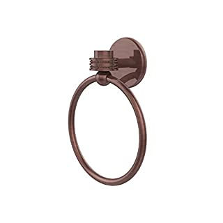 Allied Brass Satellite Orbit One Collection Towel Ring with Dotted Accent - 7116D-CA