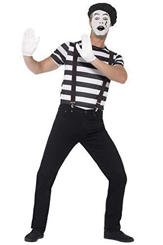 Mime Schuhe Kostüm - Smiffys 24596L - Herren Pantomime Kostüm, Größe: L, schwarz
