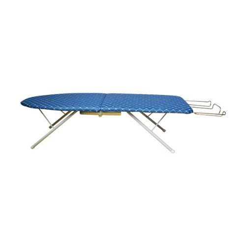 Ausziehbares Bügelbrett (Bügelbrett ausziehbar blau 82 x 31 cm Lilie)