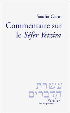 Commentaire sur le Séfer Yetzira