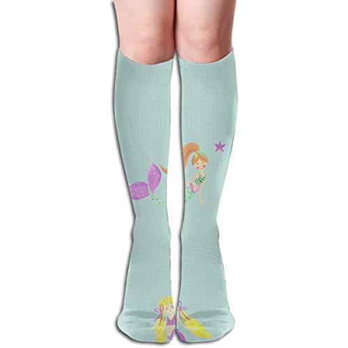 HRTSHRTE Socks Mermaid Girl Trendy Womens Stocking Accessory Sock Clearance for Girls 60cm
