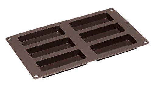 liriegel Silikonbackform, 6 Fach, Silikon, Braun, 3 x 30 x 17 cm ()