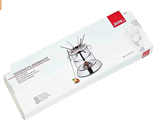 Spring 2493028000 Fire Brennpaste 3-er Riegel, 3X 80 g, Edelstahl, Silber, 2,2 x 9 x 27,2 cm
