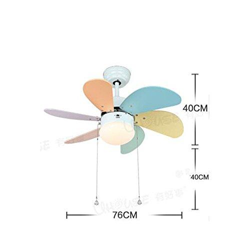 Licht-steuerung Remote-ventilator Und (FUFU Pendelleuchten 32 Zoll-Kinderzimmer Deckenventilator-Lichter elektrische Ventilator-Kronleuchter LED-10W Ventilator-Lichter Nette Schlafzimmer-Lampen (Zug-Seil, Wand-Steuerung, Fernsteuerungs) Raumbeleuchtung ( Farbe : Remote control -LED10W ))