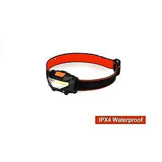 LED-Stirnlampe, leicht, COB-Scheinwerfer, IPX4 wasserdicht für Kinder und Erwachsene