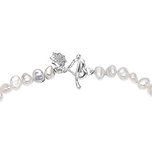 Dower & Hall Pearlicious Armband Sterling-Silber 925 Barock Süßwasserperle 19cm - 2