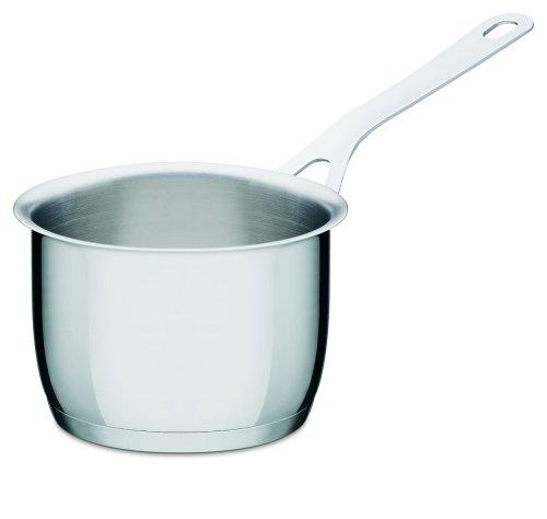 A di Alessi AJM105/14 Pots&Pans Casseruola a Manico Lungo in Acciaio Inossidabile 18/10 (1 Quart Pan)