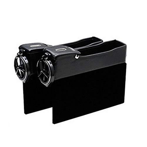 Mouchao Quiltbox mit seitlichem Stauraum für Autositze Aufbewahrungsbox für Geldwechsel-Telefone aus Leder Agile Stereo