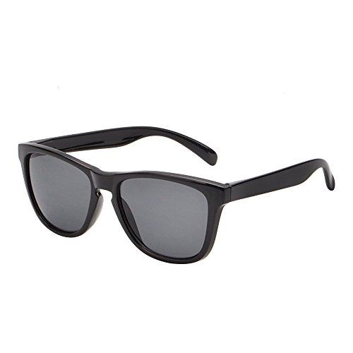 Leicht Original Sonnenbrille Dame Herre UV400 Glänzend Schwarz Rahmen
