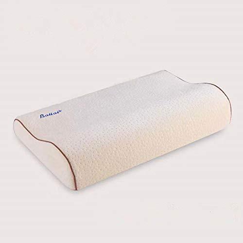 Poiuyt Almohada de algodón con Memoria Espacial, Fibra de bambú, Rebote Lento, Almohada...