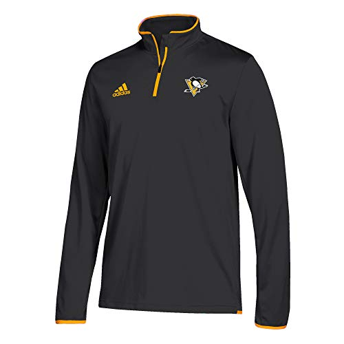 adidas Pittsburgh Penguins Authentic 1/4 Zip NHL Jacke Schwarz, L