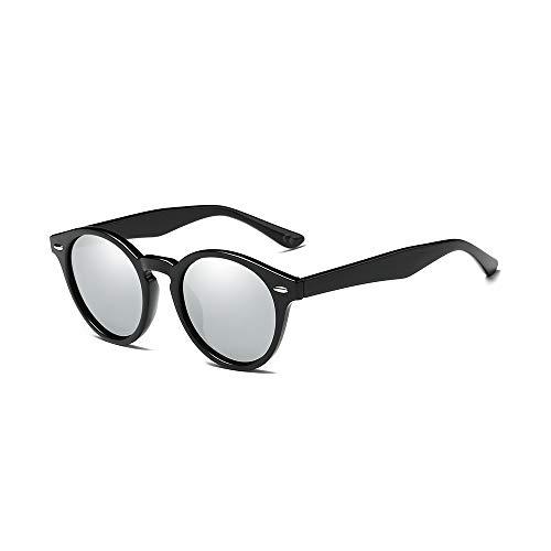 cec62fb8e9 AMZTM Retro Espejo Gafas de Sol Polarizadas Mujer Hombre, Clásico Cuerno  Rimmed Marco con Lentes