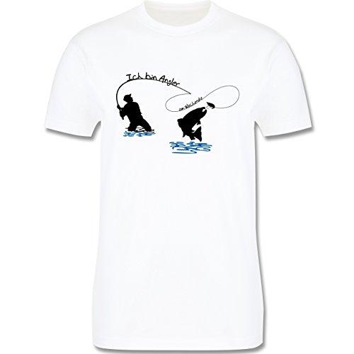Angeln - Ich bin Angler am Wochenende - Herren Premium T-Shirt Weiß