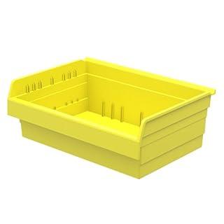 Akro-Mils 30826 ShelfMax 8 Plastic Nesting Shelf Bin Box, 16-Inch x 22-Inch x 8-Inch, Yellow, 4-Pack