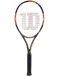 Wilson Burn 100 LS, Racchetta da tennis, Nero/Arancione, Taglia manico L3