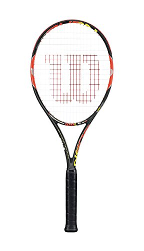 Wilson Tennisschläger Burn 100LS, Gunmetal/Orange, L3, WRT72550U3