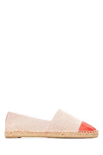 Tory Burch Damen 47016803 Rot Grobes Leinen Espadrilles
