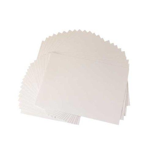Crafter's Companion Centura - Biglietti formato A3, 25 pz, colore: bianco/oro, effetto perlato