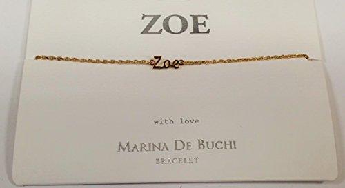 Zoe Nom de Marina De Buchi Bracelet plaqué or par Sterling Effectz