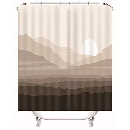 Sillyxll tenda da doccia, tecnica artistica, impermeabile, antimuffa, orlo verticale con ganci inclusi 150x180cm