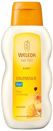 WELEDA Baby Calendula Bad, Pflegebad zur Beruhigung der Haut und zur Förderung von Schlaf, Naturkosmetik Pflegebad ohne Tensiden für Babys und Kleinkinder (1 x 200 ml)