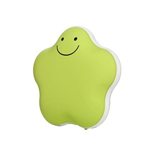 Handwärmer USB bestomz Handwärmer in Form von Stern wiederverwendbar und Akku-3600mAh (grün)
