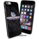 (Available for iPhone 4,4s,5,5s,6,6Plus) NCAA University sport Gonzaga Bulldogs , Cool iPhone 4 5 or 6 Smartphone Case Cover Collector iPhone TPU Rubber Case Black [By Lucky9Cover] Gonzaga University Bulldogs