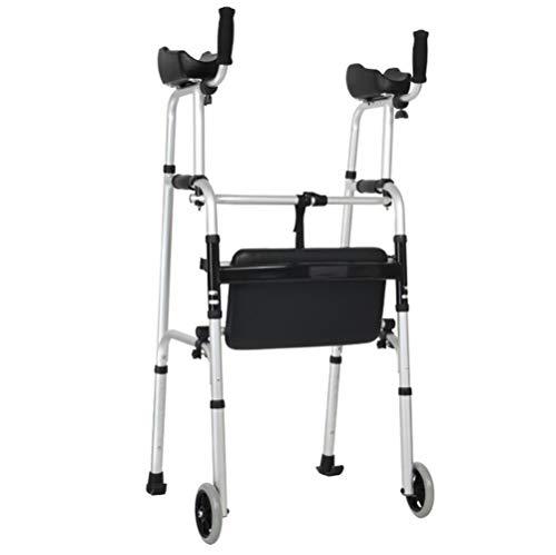 Jmung Alu Gehhilfe Gehwagen Faltbar Höhenverstellbar Für Senioren Maximale Belastbarkeit 100 Kg,A